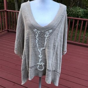 Free people small oversized poncho style sweater